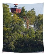 Two Harbors Mn Lighthouse 19 Tapestry