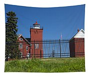 Two Harbors Mn Lighthouse 25 Tapestry