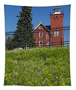 Two Harbors Mn Lighthouse 26 Tapestry