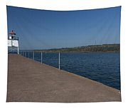 Two Harbors Mn Pier Light 12 Tapestry