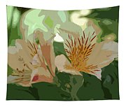 Two Lilies Cutout Tapestry