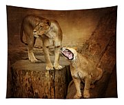 Two Lions Tapestry