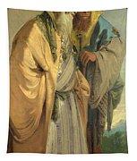 Two Men In Oriental Costume Tapestry