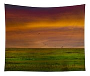 Two Mile Landing Colorful Sky Tapestry
