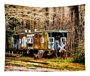 Two Old Cabooses Tapestry