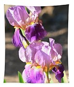 Two Purple Irises Tapestry