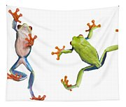 Two Red Eyed Tree Frogs Tapestry