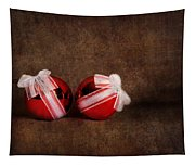 Two Red Ornaments Tapestry