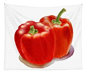 Two Red Peppers Tapestry