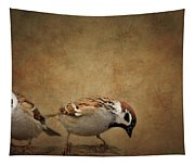 Two Sparrows Tapestry