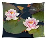 Two Water Lillies Tapestry