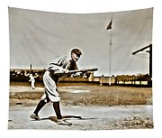 Ty Cobb Painting Tapestry