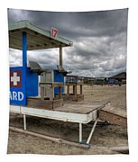 Tybee Island Lifeguard Stand Tapestry by Peter Tellone