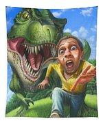 Tyrannosaurus Rex Jurassic Park Dinosaur - T Rex - Paleoart- Fantasy - Extinct Predator Tapestry