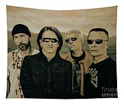 U2 Silver And Gold Tapestry
