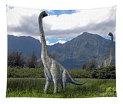 Ultrasaurus In Meadow Tapestry