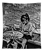 Umbrella Maker Bw Tapestry