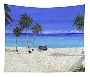 Una Barca Blu Tapestry