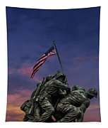 Uncommon Valor Was A Common Virtue Tapestry by Susan Candelario