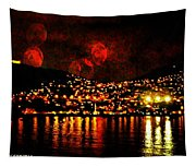 Corinth Under A Milti Moon Sky Tapestry
