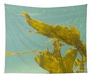 Underwater Shot Of Seaweed Plant Floating Leaves Tapestry