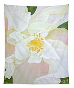 Unfurling White Hibiscus Tapestry