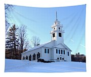 Union Meeting House In West Newbury Vermont Tapestry