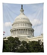 United State Capitol Dome Washington Dc Tapestry