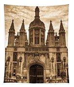 University Entrance Door Sepia Tapestry