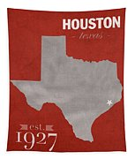 University Of Houston Cougars Texas College Town State Map Poster Series No 045 Tapestry