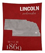 University Of Nebraska Lincoln Cornhuskers College Town State Map Poster Series No 071 Tapestry