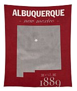 University Of New Mexico Albuquerque Lobos College Town State Map Poster Series No 074 Tapestry