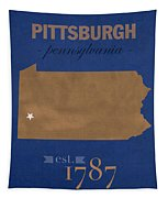 University Of Pittsburgh Pennsylvania Panthers College Town State Map Poster Series No 089 Tapestry