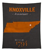 University Of Tennessee Volunteers Knoxville College Town State Map Poster Series No 104 Tapestry