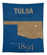 University Of Tulsa Oklahoma Golden Hurricane College Town State Map Poster Series No 115 Tapestry
