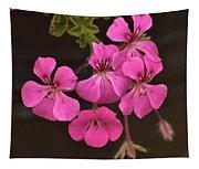 Pink Geranium Flower Tapestry