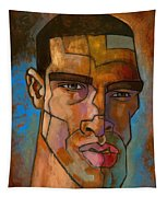 Untitled Male Head August 2012 Tapestry by Douglas Simonson