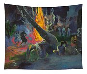 Upa Upa.the Fire Dance Tapestry