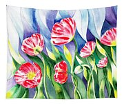 Upcoming Wind Poppy Field Tapestry