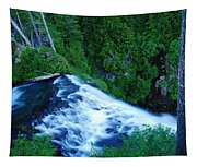 Upper View Of Narada Falls Tapestry