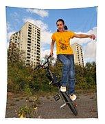 Urban Bmx Flatland With Monika Hinz Tapestry