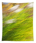 Urban Nature Fall Grass Abstract Tapestry