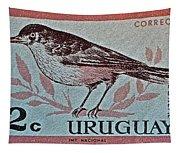 Uruguay Bird Stamp - Circa 1962 Tapestry