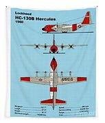Coast Guard Hc-130 B Hercules Tapestry