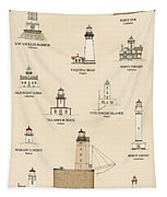Lighthouses Of The West Coast Tapestry