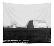 U.s. Naval Air Base Hangar One Is One Of The World's Largest Fre Tapestry