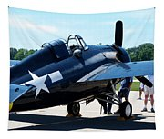 Us Ww II Fighter Plane Tapestry