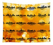 Usa Skylines 3 Tapestry