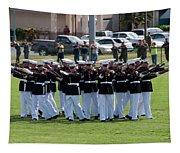 Usmc Silent Drill Platoon Tapestry