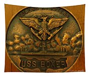Uss Boxer Plaque Tapestry
